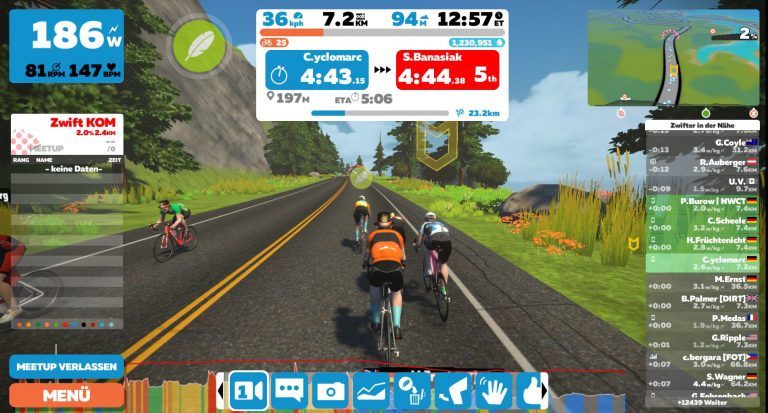 RSC goes Zwift